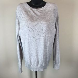 Ted Baker Gray Knit Dyanii Embellished Sweater
